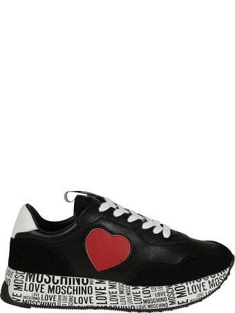 Love Moschino Heart Patched Printed Sole Sneakers