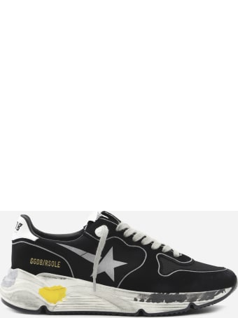 Golden Goose Running Sole Sneakers In Suede And Mesh Inserts