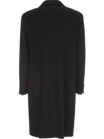 Emanuel Ungaro Wool Cashmere Single Breasted Coat W/shirt Neck