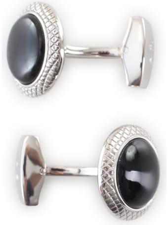 Tateossian Onyx / Round / Bullseye Cufflink