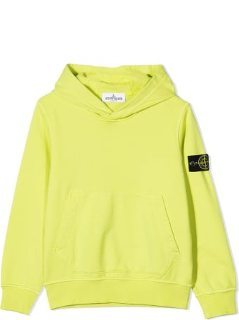 Stone Island Yellow Cotton Hoodie