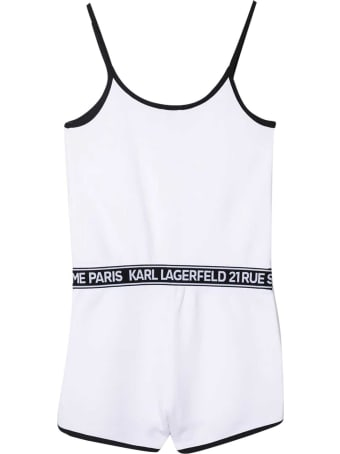 Karl Lagerfeld Kids Short Jumpsuit With Print