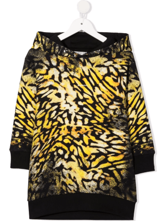 Givenchy Kids Dress In Sweatshirt With Hood And Animalier Print