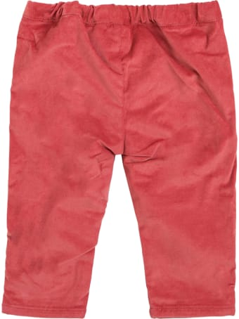 Tartine et Chocolat Red Cotton Pants With Bows