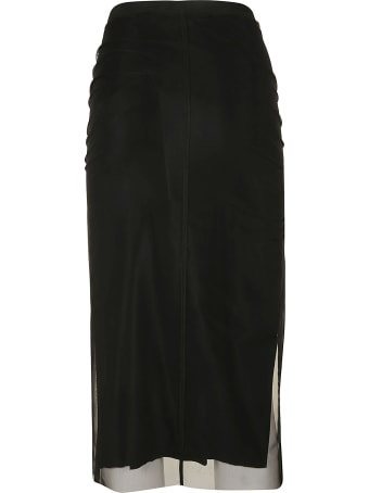 Rick Owens Collage Knee Length Skirt