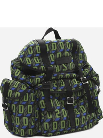 Dsquared2 Backpack In Technical Fabric With All-over Monogram Motif