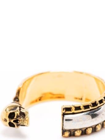 Alexander McQueen Punk Hoop Brass Earrings