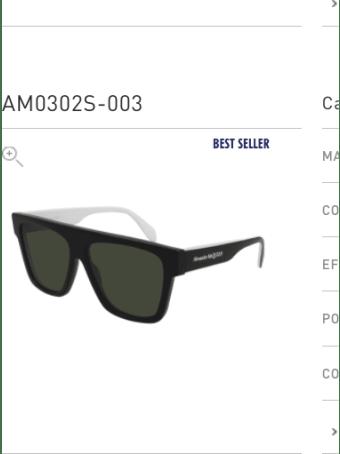 Alexander McQueen Alexander Mcqueen Am0302s Black Sunglasses