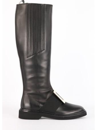 Roger Vivier Viv Ranger Black Boots