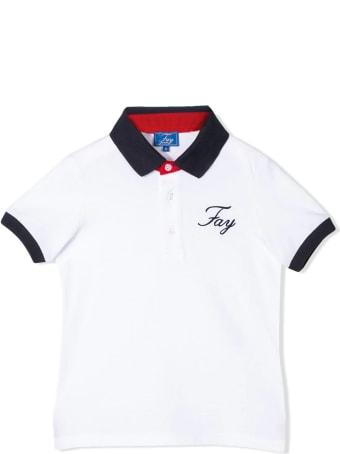 Fay White Cotton Polo Shirt