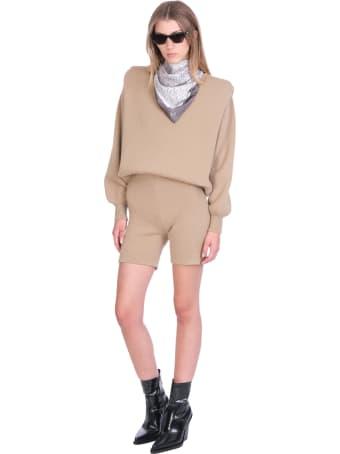 Magda Butrym Shorts In Beige Wool