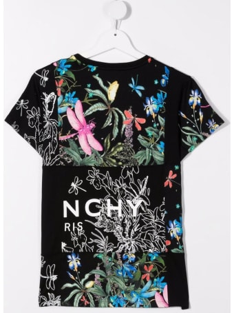 Givenchy Jersey T-shirt With Floral Print And Logo