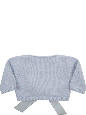 La stupenderia Light Blue Cardigan For Baby Girl