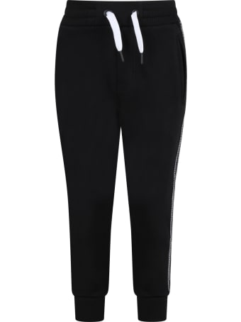 Givenchy Black Sweatpant For Kids With Logos