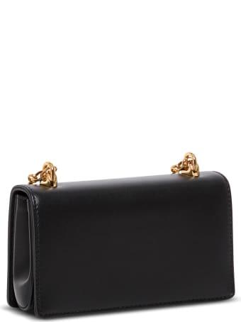 Dolce & Gabbana Dg Girls Crossbody Bag In Black Leather