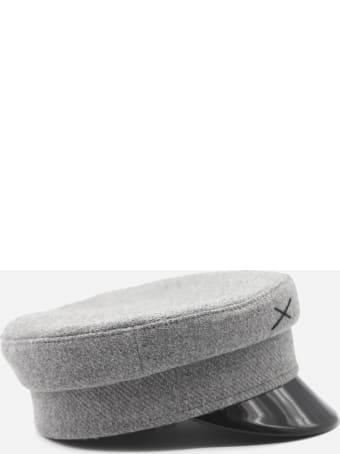 Ruslan Baginskiy Baker Boy Hat In Wool With Embroidered Logo
