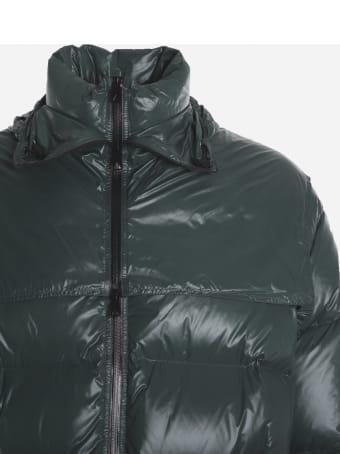 Bottega Veneta Long Oversized Down Jacket In Shiny Nylon