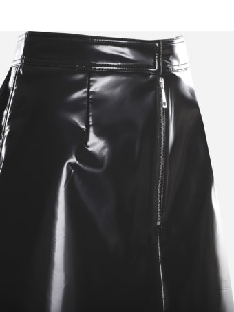 Moncler A-line Skirt In Patent-effect Fabric