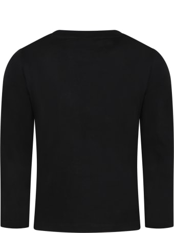 Australian Black T-shirt For Boy With Logo