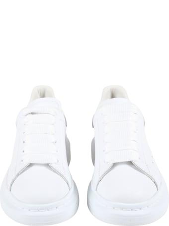 Alexander McQueen White Sneakers For Kids