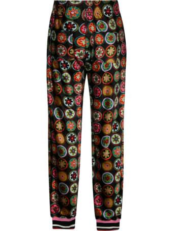 La DoubleJ Drawstring Waist Printed Track Pants
