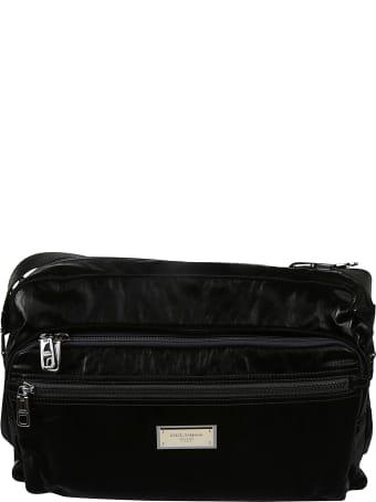 Dolce & Gabbana Top Zip Logo Plaque Messenger Bag