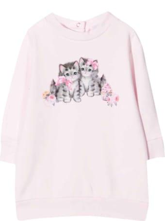 Monnalisa Pink Sweatshirt Dress