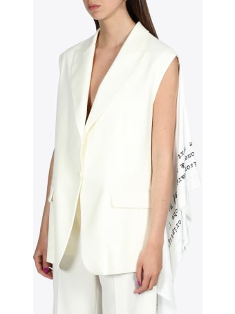 MM6 Maison Margiela Scarf Sleeveless Blazer