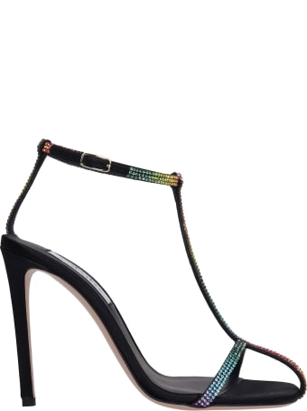 Sebastian Milano Sandals In Multicolor Satin
