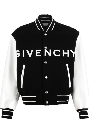Givenchy Wool And Leather Bomber Jacket