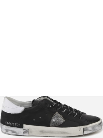 Philippe Model Black Leather Sneaker