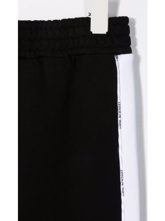 Neil Barrett Kids Black Joggers With Contrast Bands