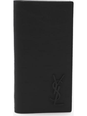 Saint Laurent Monogram Continental Wallet In Embossed Leather