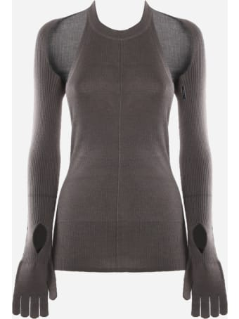 Peter Do Ribbed Chenille Sweater With Cut-out Details