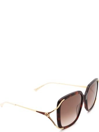 Gucci Gucci Gg0647s Havana Sunglasses