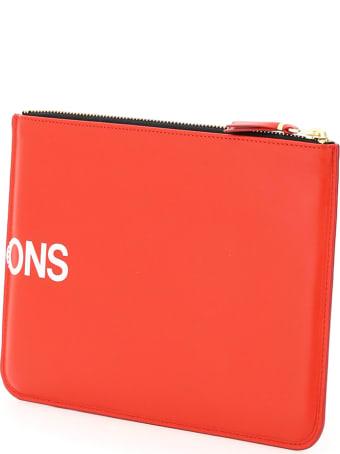 Comme des Garçons Wallet Leather Pouch With Logo