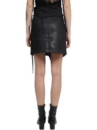 Ottolinger X Isko Black Denim Skirt