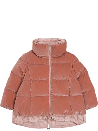 Il Gufo Pink Quilted Velvety Nylon Down Jacket