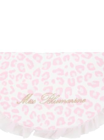 Blumarine Multicolor Bib For Baby Girl With Gold Logo