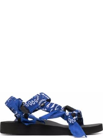 Arizona Love Trekky Sandals With Blue Bandana Print