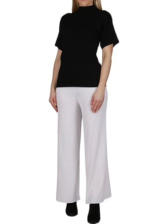 Malo White Cotton Trousers