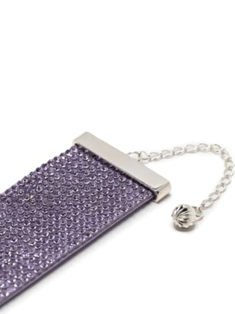 Nué Purple Choker With Crystals