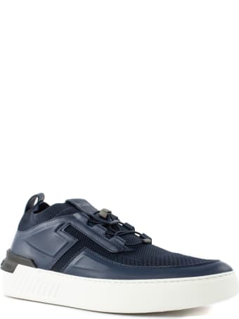 Tod's Blue Leather No_code X Sneakers