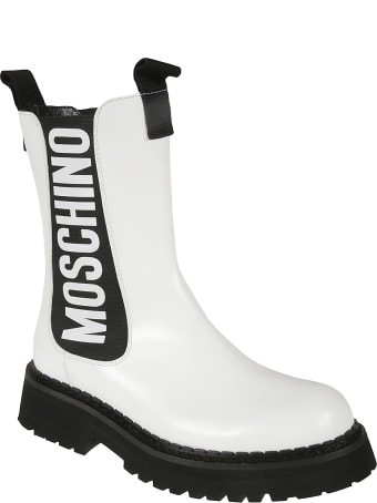 Moschino Elastic Sided Logo Boots