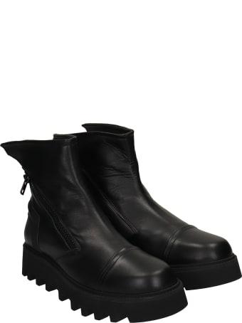 Bruno Bordese Pontiak Combat Boots In Black Leather