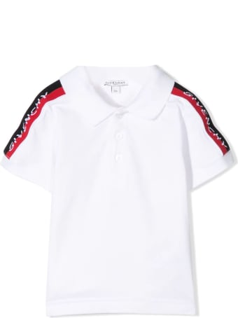 Givenchy White Stretch Cotton Polo Shirt