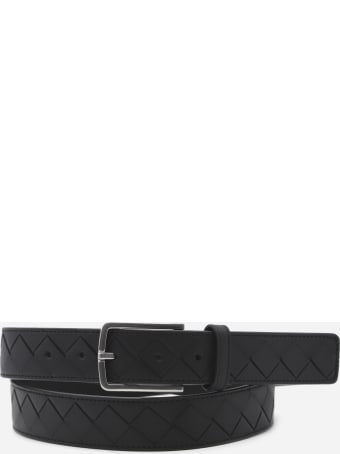 Bottega Veneta Leather Belt With Woven Pattern