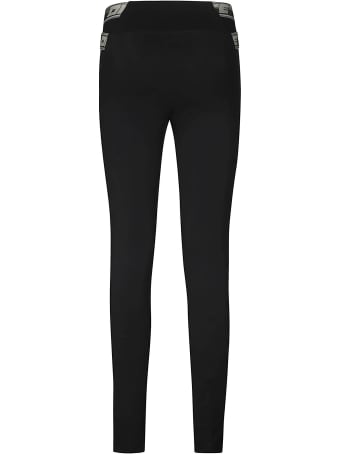 Off-White Black Stretch Logo Fabric Leggings
