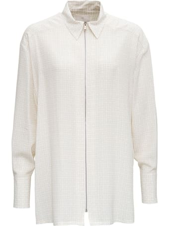 Givenchy 4g White Silk Shirt