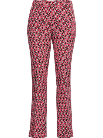 PT01 Jane Tailored Pants With Geometric Print